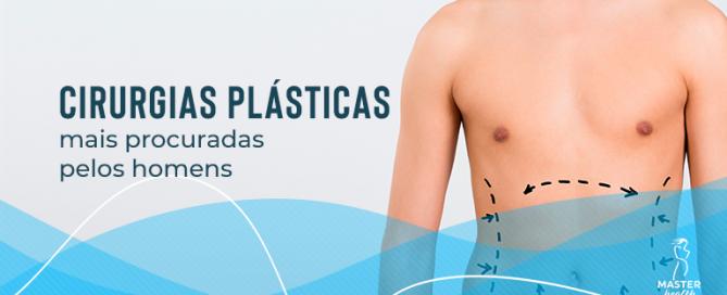corpo masculino com indicações de locais onde podem ser feita a cirurgia plástica para homens