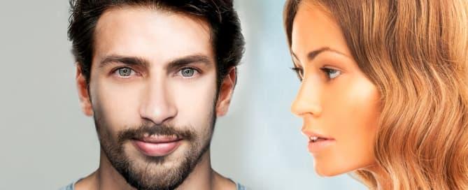 rinoplastia feminina e masculina