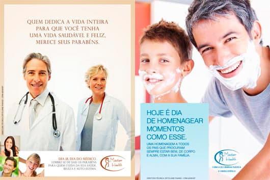 Campanha dia do médico e campanha dia dos pais